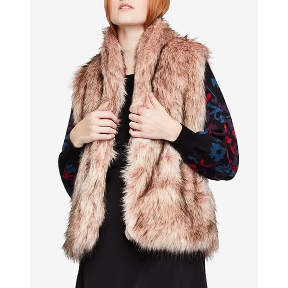 Joujou Beautiful Vegan Fur Vest size Large NWT